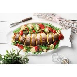Филе форели  запеченное на гриле с моцареллой и томатами